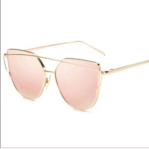e109618f5d11 Accessories - Nordstrom pink cat eye aviator mirror sunglasses